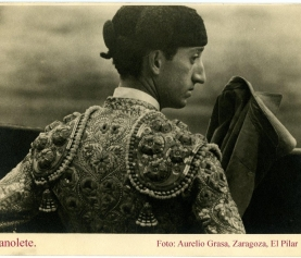 MANOLETE FOTOGRAFIADO POR AURELIO GRASA, ZARAGOZA 1944