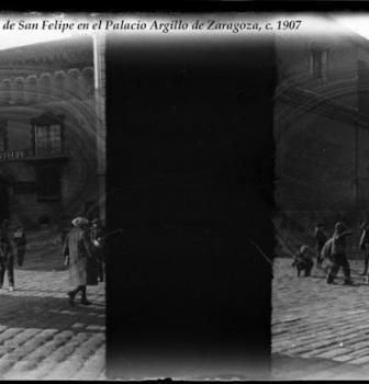AURELIO GRASA SANCHO  EN EL COLEGIO DE SAN FELIPE, HOY MUSEO PABLO GARGALLO