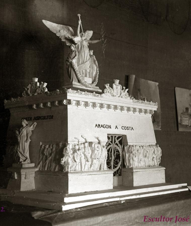 Entierro Joaquín Costa en Zaragoza. 1911. Parte 2